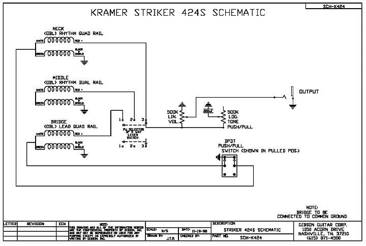 424diagram kramer striker custom fr 424cm Single Humbucker Wiring-Diagram at alyssarenee.co
