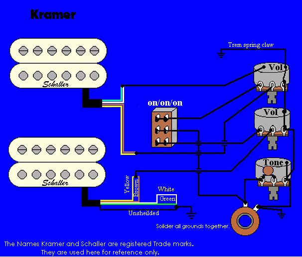 kramer wiring information and reference Guitar Coil Tap Wiring Diagrams