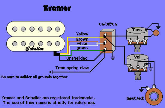 wiring pacerspecial kramer wiring information and reference Single Humbucker Wiring-Diagram at alyssarenee.co