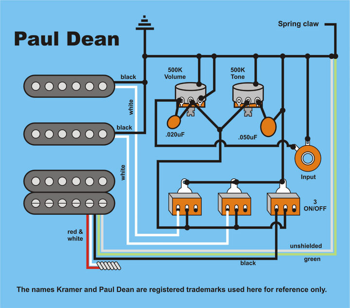 dean b guitar wiring schematics diagram