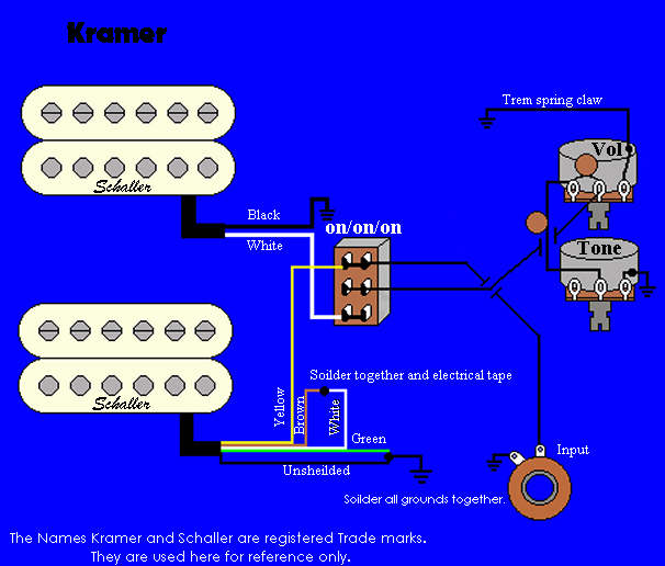 dean guitars pickup wiring diagram pickup wiring diagram one volume tone kramer wiring information and reference