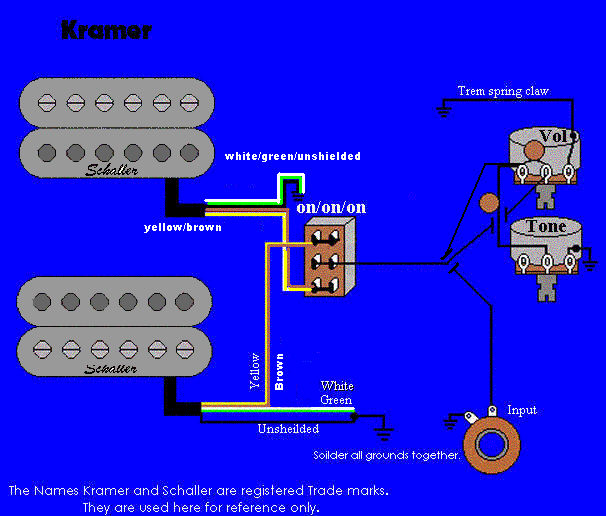 wiring voyager kramer wiring information and reference guitar wiring diagram 2 humbucker 1 volume 1 tone at fashall.co