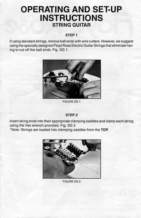 floyd rose installation instructions