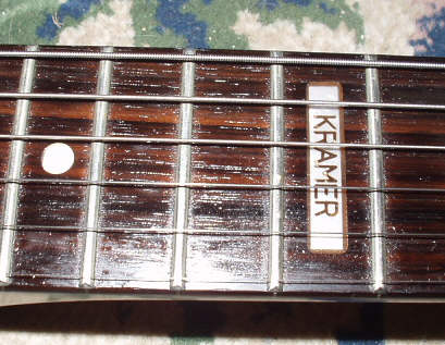 the neck page rectangular kramer inlay at 12th fret